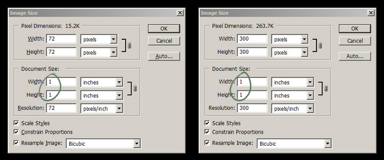 How to change the image size and resolution in Photoshop