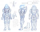Garrus costume armor planning concept sketches