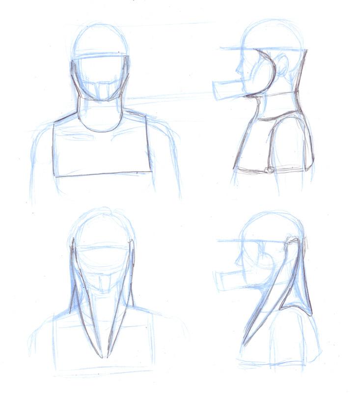 Garrus neck sketches