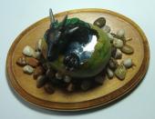 Dragon Hatchling Sculpture – Dark Green, Top View
