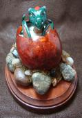 Dragon Hatchling Sculpture - Green, Front View