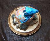 Dragon Hatchling Sculpture - Light Blue, Top View