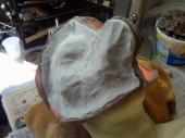 Mother mold made with Free Form AIR, before being smoothed with water