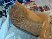 Garrus lower jaw sculpt in Monster Clay