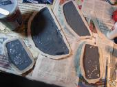 Garrus neck scales in their molds