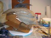 Garrus mask sculpture in progress