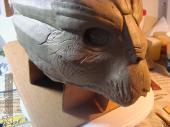 Garrus mask sculpture