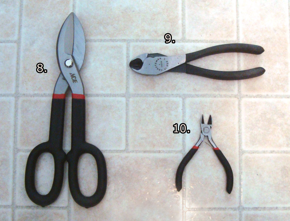 Shears and wire cutters