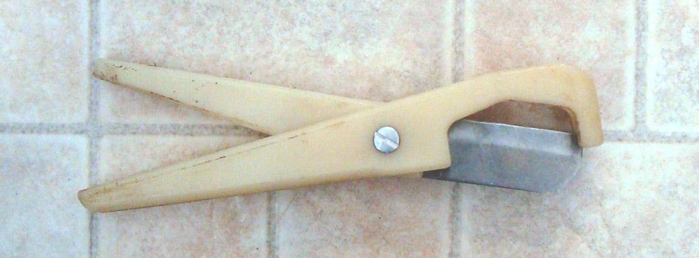 A PVC pipe cutter