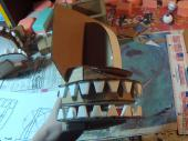 Cardboard puppet mouth with teeth